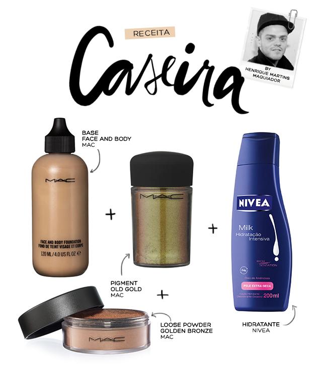 Maquiagem Corpo- receita caseira