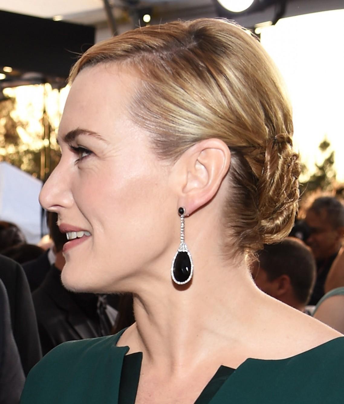 Cabelo preso Kate Winslet SAG Awards