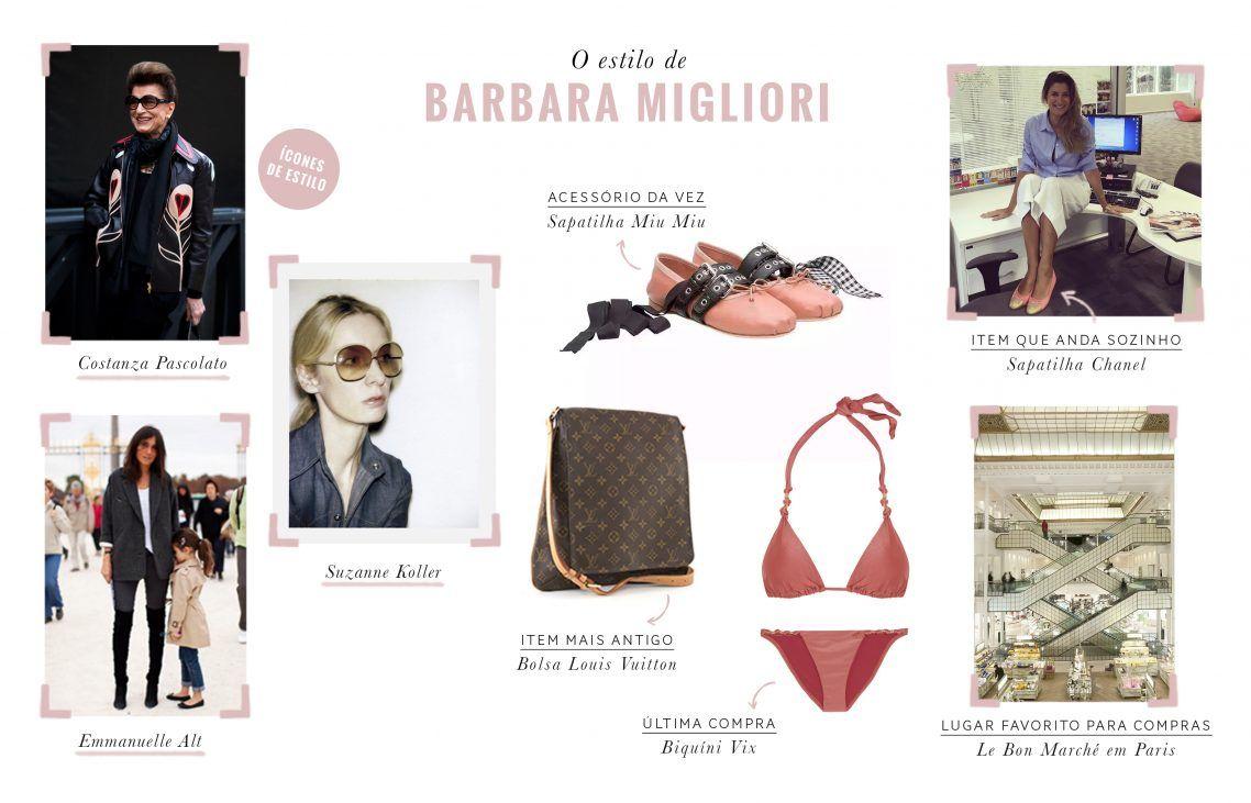 o estilo de Barbara Migliori
