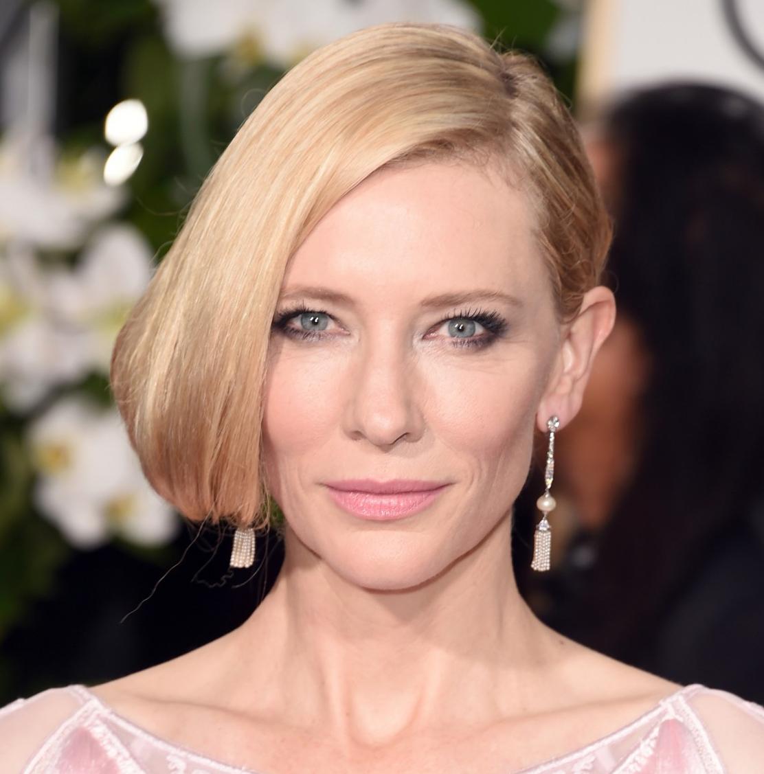 Olho escuro Cate Blanchett Golden Globes 2016