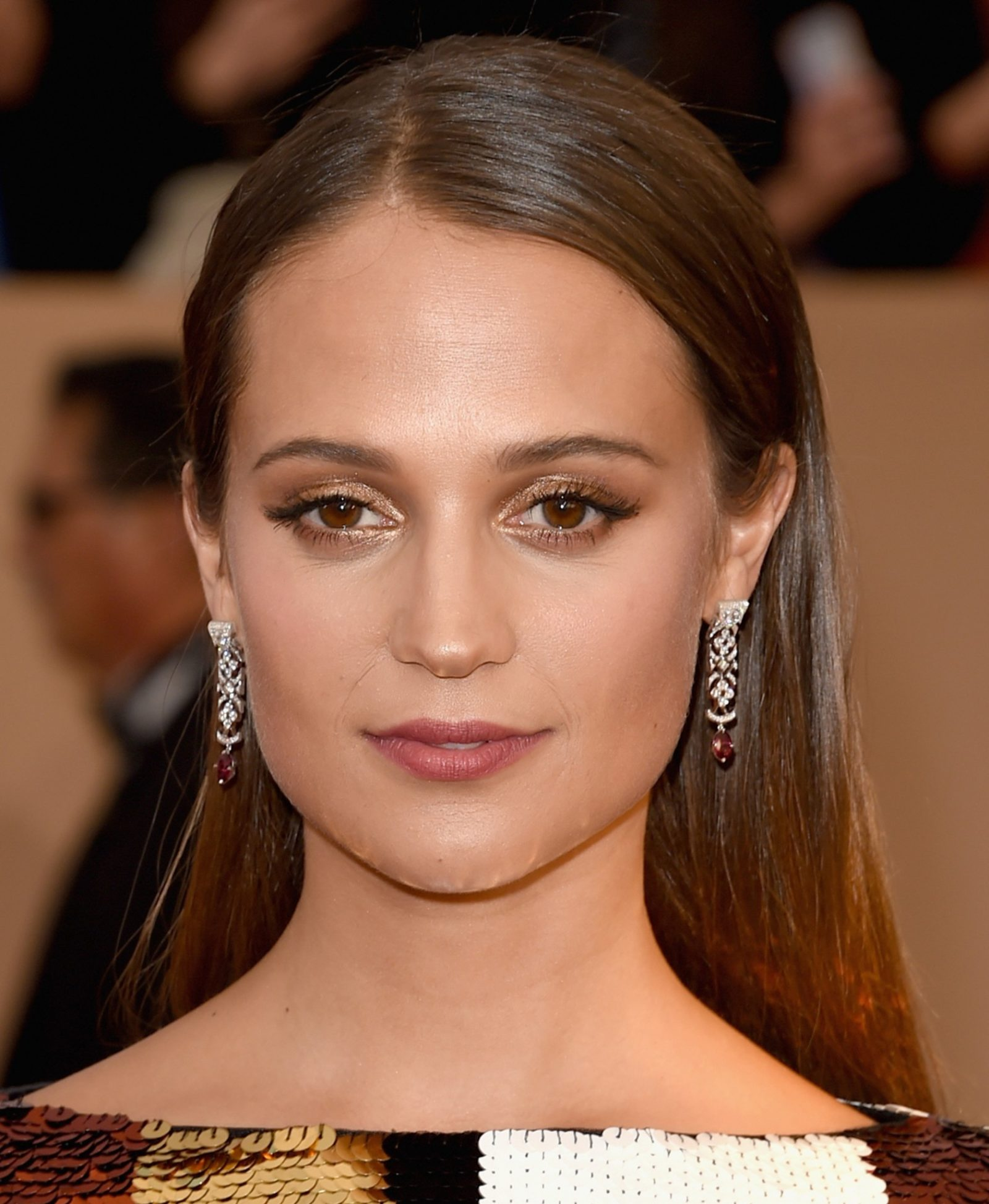 Make dourado Alicia Vikander SAG Awards