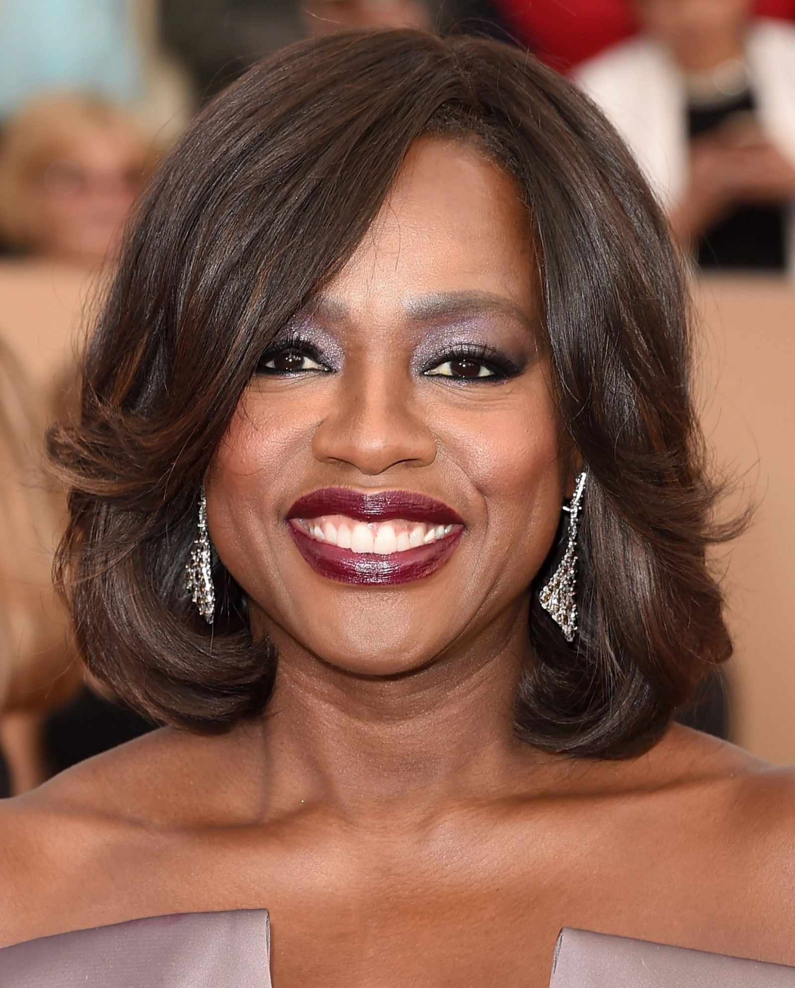 Make batom vinho Viola Davis SAG Awards