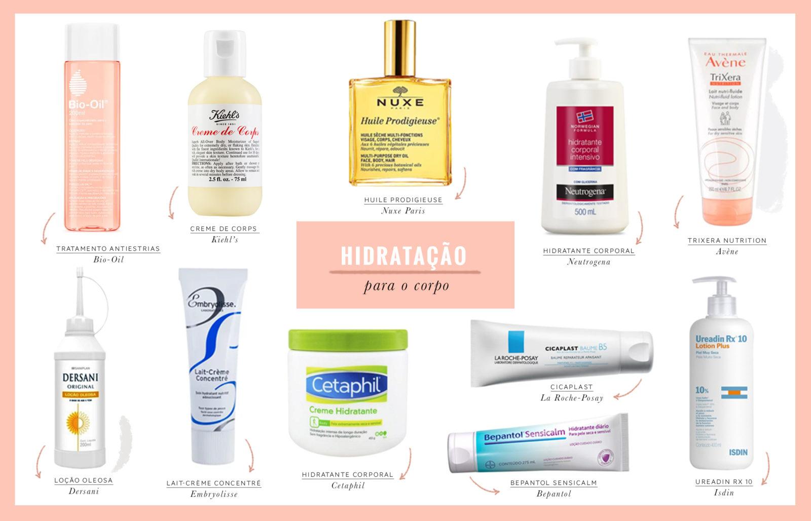 os melhores produtos para hidratar corpo e rosto