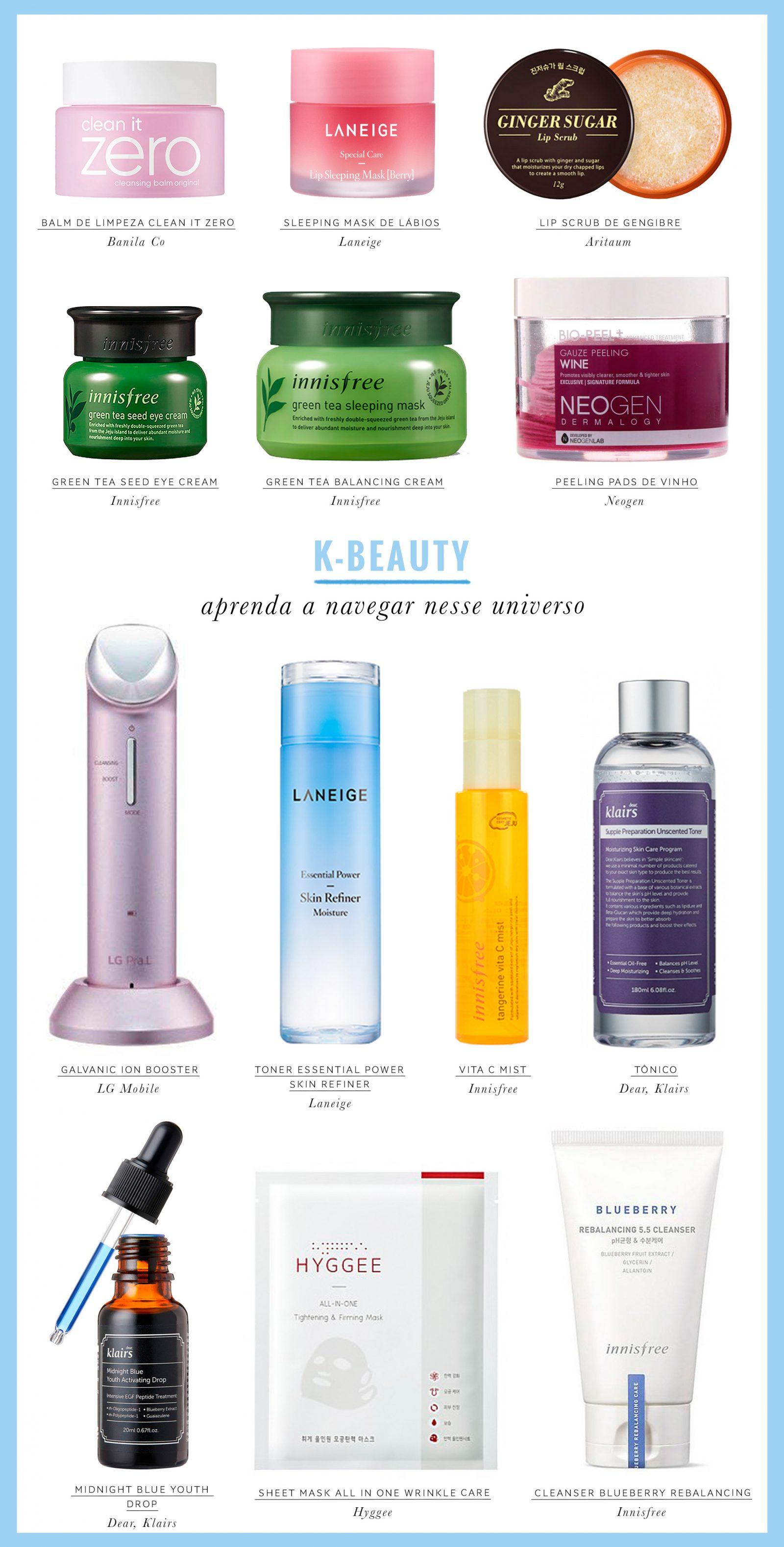 produtos para rotina coreana K-Beauty